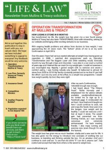 front cover newsletter
